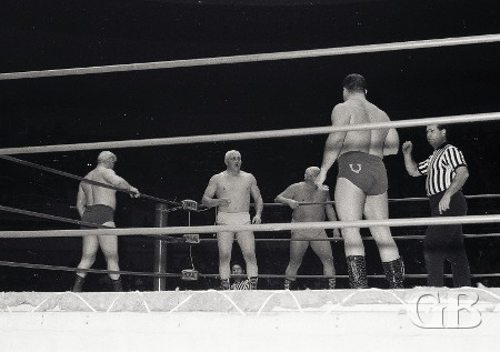 Cowboy Billy Watts confronts Patterson, Stevens, and Collins.