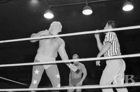 Graham argues with referee Wally Tsutsumi