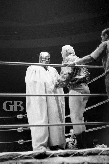 A masked Ripper Collins teams with Ray Stevens.