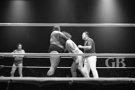 Curtis Iaukea cinches a Nerve Hold on Neff Maiava's Neck.