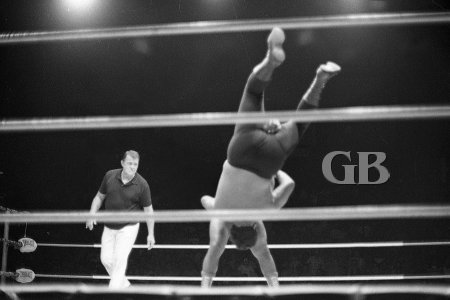 Pedro Morales Body Slams Curtis Iaukea.