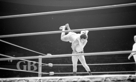 Pat Patterson turns things around and slams Pedro Morales.
