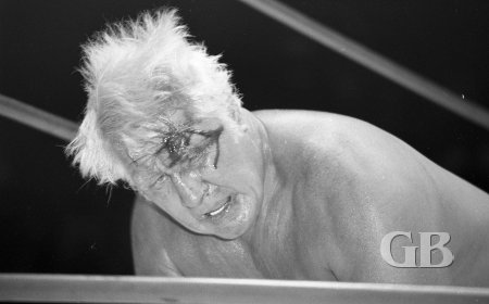 Classy Freddie Blassie after another typical night's work.