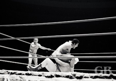 Pepper Gomez watches as his partner Pedro Morales bombs Ripper Collins.