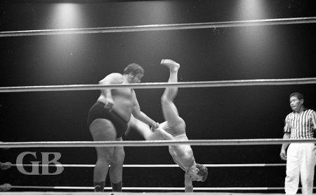 Curtis Iaukea flips Eric Frolich.