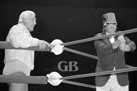 Fred Blassie and his manager, Abdullah Farouk.