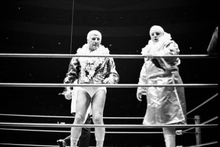Fred Blassie and Ripper Collins after ring intro.