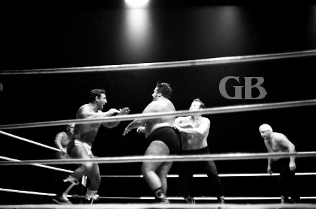 White Wolf takes on Curtis Iaukea, Dutch Schultz, and Ripper Collins.