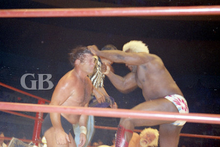 After the match, Sweet Daddy Siki enters the ring