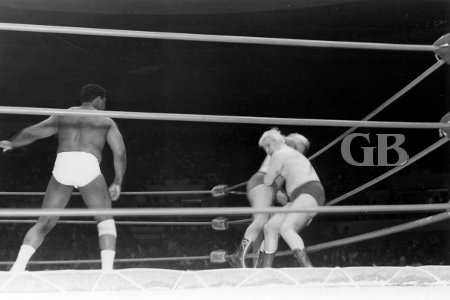 Eddie Morro confronts World Tag Team Champions Ray Stevens and Patt Patterson.