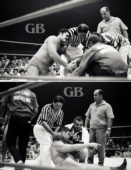 Peter Maivia takes on both Von Steigers.